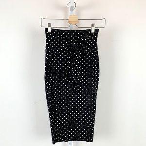 Bailey 44 Polka Dot Pencil Skirt Anthropologie